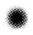 abstract halftone design element black vector image vector image