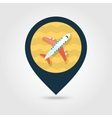 Aircraft pin map icon Travel Summer Vacation vector image vector image