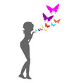 an air kiss concept vector image