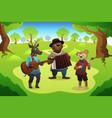 animal playing music vector image vector image