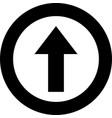 arrow icon upload arrow icon arrow up icon up vector image vector image