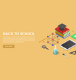 back to school chemical concept background vector image vector image