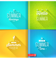 Booklet template - set of summer greeting sign vector image vector image