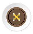brown clothing button icon circle vector image vector image