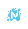 bubble with initial letter n graphic design vector image vector image
