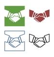 Business handshake set vector image vector image