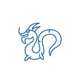 chinese dragon line icon concept chinese dragon vector image vector image