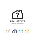 clean house logo for real estate company with vector image vector image
