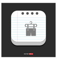 clothing item on hanger icon gray icon on notepad vector image vector image
