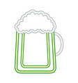 cold beer foam drink vector image vector image
