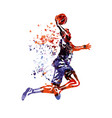 color basketball player vector image vector image