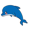 cute dolphin on white background vector image vector image