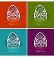 easter egg labels vector image vector image