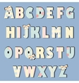 english alphabet shabby chic vector image vector image
