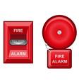 fire alarm vector image