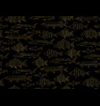 fish collection seamless pattern for your design vector image vector image