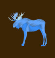 flat shading style icon elk vector image vector image