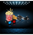 for the film industry film popcorn and tickets vector image