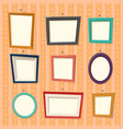 frames for family photography or camera pictures vector image vector image