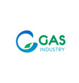 gas industry sign vector image