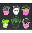 Hand drawn mousse vector image vector image