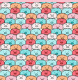 hand drawn pig pattern vector image