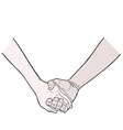 holding hands vector image vector image