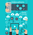 internet data digital technology poster vector image vector image