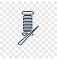 knitting concept linear icon isolated on vector image
