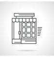 Linear store facade flat icon vector image vector image