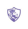 lion logo emblem design vector image vector image