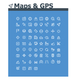 Maps and navigation icon set vector image vector image