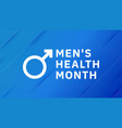 mens health month male healthcare lifestyle vector image