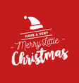 merry christmas calligraphy santa vector image vector image