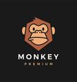 monkey chimp gorilla logo icon vector image vector image
