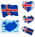 national colours of Iceland vector image vector image