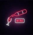 neon wine sign wine bar advertising design vector image vector image