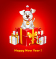 new year congratulation vector image
