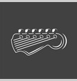 part guitar isolated on a black background vector image vector image