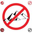 pyramids symbol stop vector image vector image