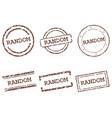 random stamps vector image vector image