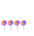 set colorful lollipops background isolated vector image vector image
