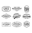 set of isolated cafe and restaurant logos vector image