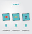set of studio icons flat style symbols with vector image