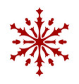 simple snowflake element vector image