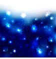 Sparkling Blue Star Celebration Background vector image vector image