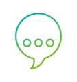 speak bubble chat message talk symbol vector image