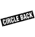 square grunge black circle back stamp vector image vector image