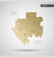 stylized gabon map vector image vector image