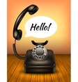 Telephone With Speech Bubble vector image vector image